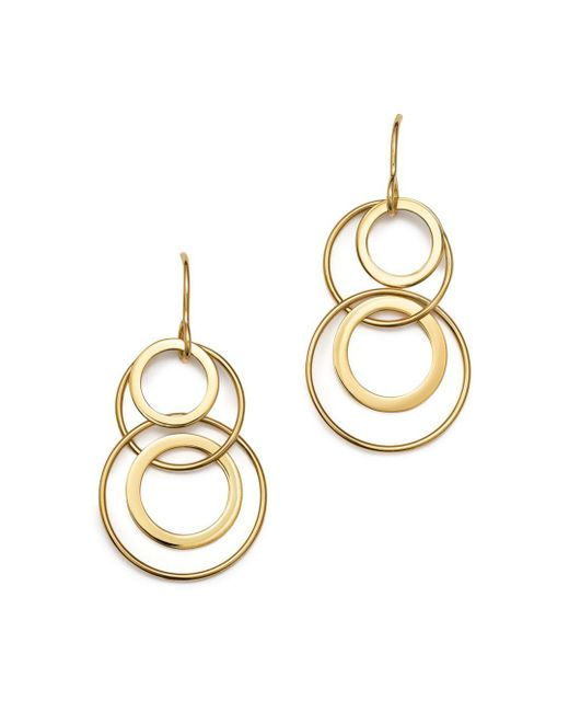 Bloomingdale's - Metallic 14k Yellow Gold Doubling Duo Earrings - Lyst
