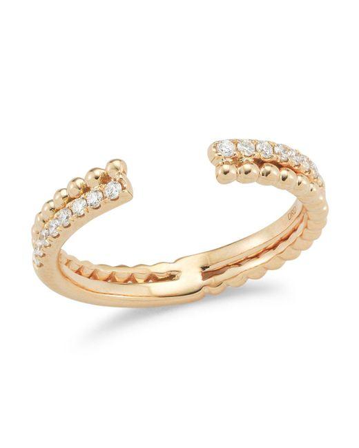Dana Rebecca | Metallic 14k Rose Gold Poppy Rae Bypass Ring With Diamonds | Lyst