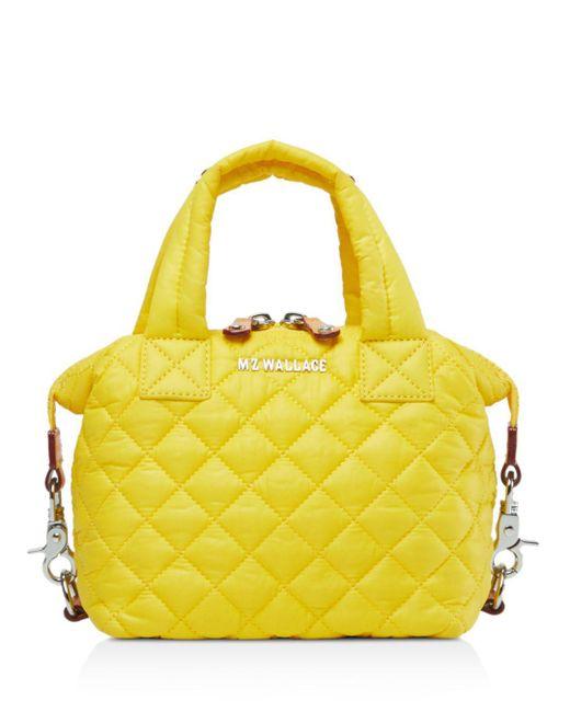 MZ Wallace Yellow Micro Sutton Bag