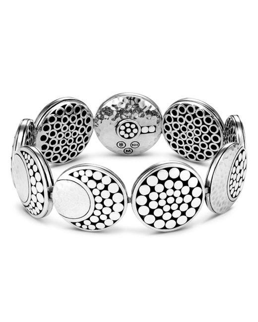 John Hardy - Metallic Sterling Silver Dot Hammered Moon Bracelet - Lyst