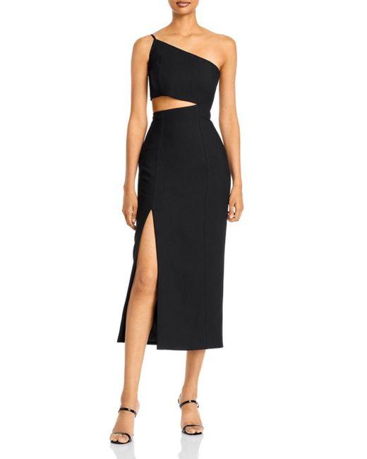 Cinq À Sept Black Laurile One Shoulder Dress