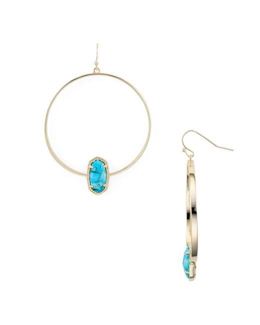 Kendra Scott - Multicolor Elora Loop Drop Earrings - Lyst