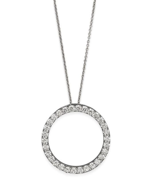 Roberto Coin | Metallic 18k White Gold Diamond Skull & Crossbones Necklace | Lyst