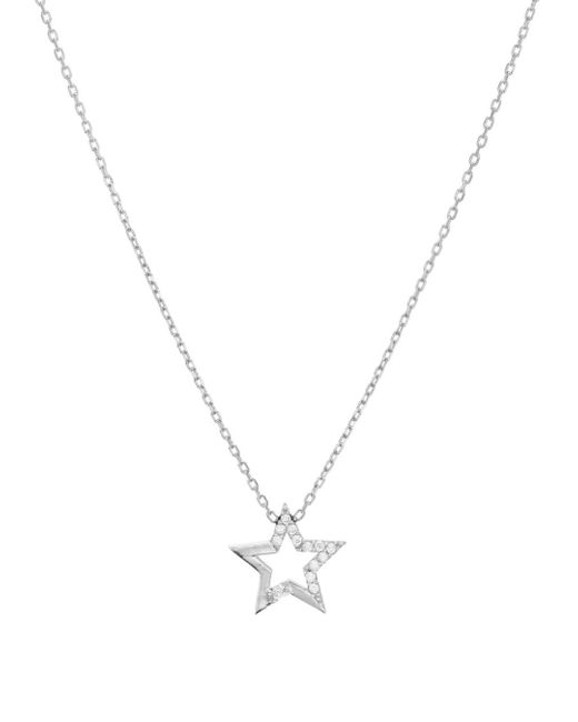 Aqua Metallic Embellished Star Pendant Necklace In 14k Gold - Plated Sterling Silver Or Sterling Silver