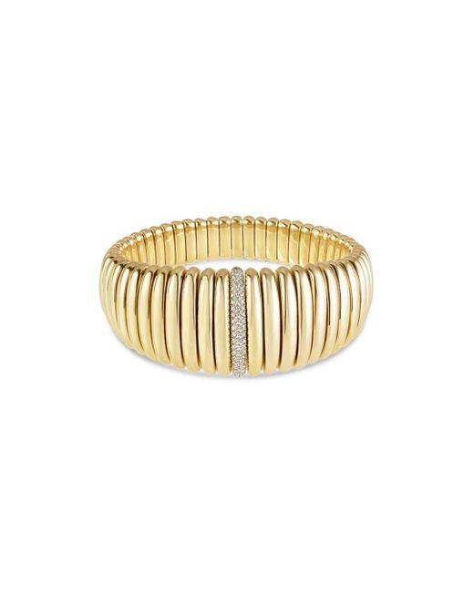 Hulchi Belluni - Metallic 18k Yellow Gold Tresore Diamond Graduated Banded Bracelet - Lyst