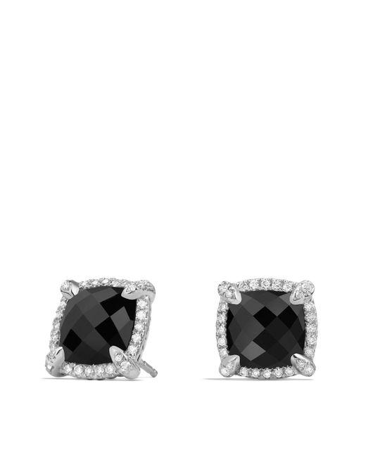 David Yurman - Chatelaine® Pavé Bezel Earring With Black Onyx And Diamonds, 9mm - Lyst