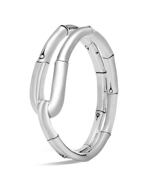 John Hardy - Metallic Sterling Silver Bamboo Flex Cuff - Lyst