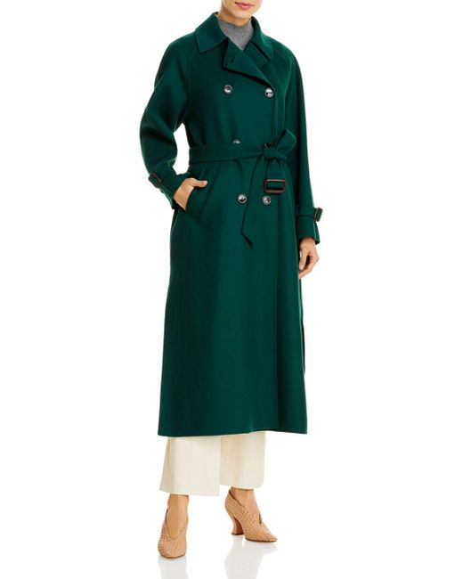 Weekend by Maxmara Green Double Breasted Trench Coat