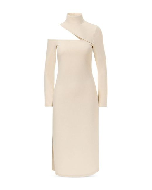 Nicholas Natural Eleni Open Shoulder Midi Dress
