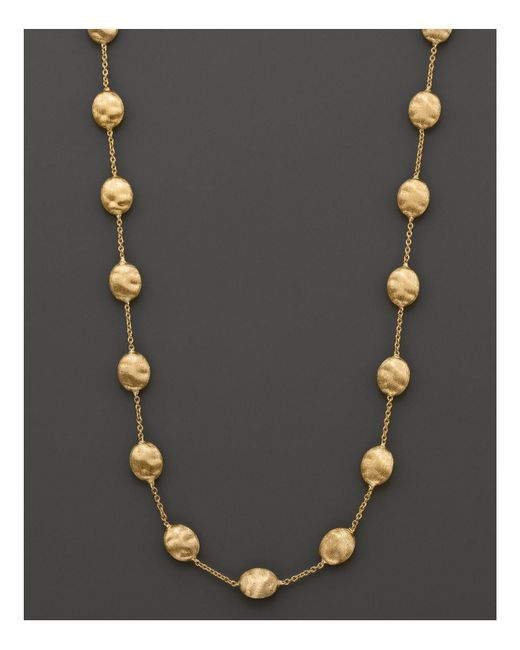 "Marco Bicego | Metallic ""siviglia Collection"" Large Bead Necklace In 18k Yellow Gold, 16"" 