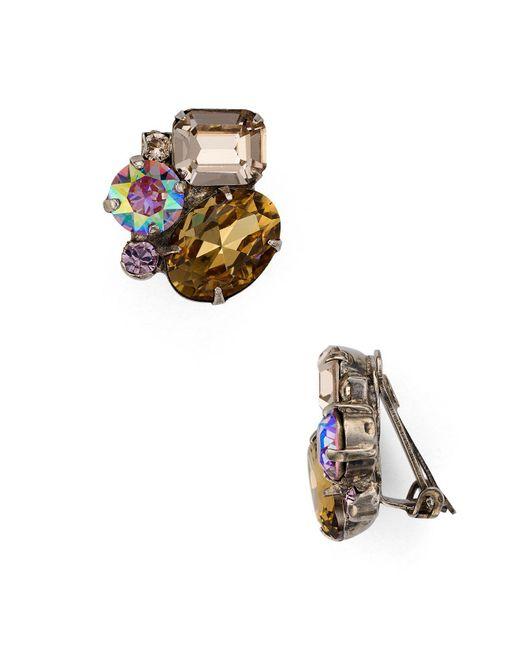 Sorrelli   Multicolor Cluster Clip-on Earrings   Lyst
