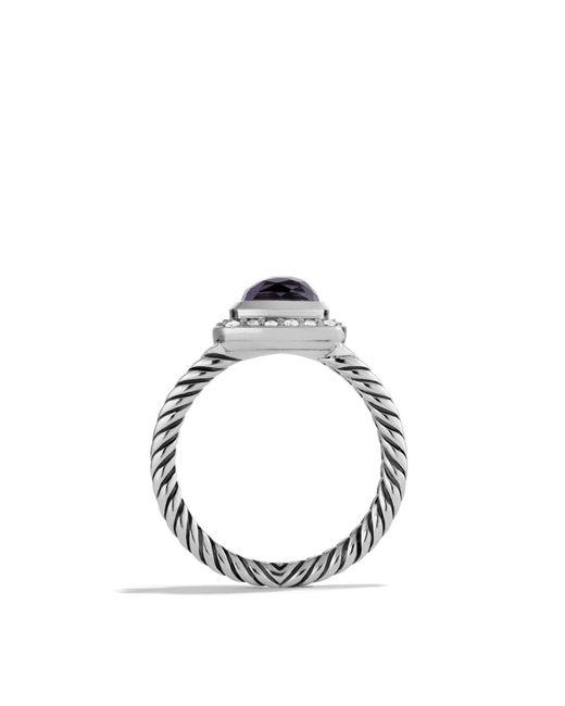 david yurman petite albion ring with black orchid u0026 diamonds lyst