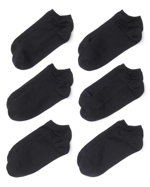 Hue Black Microfiber Liner Socks