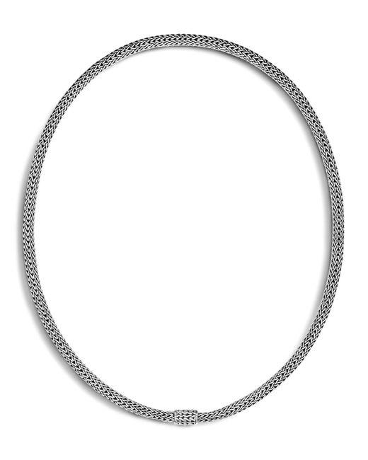 """John Hardy   Metallic Sterling Silver Woven Chain, 16""""   Lyst"""