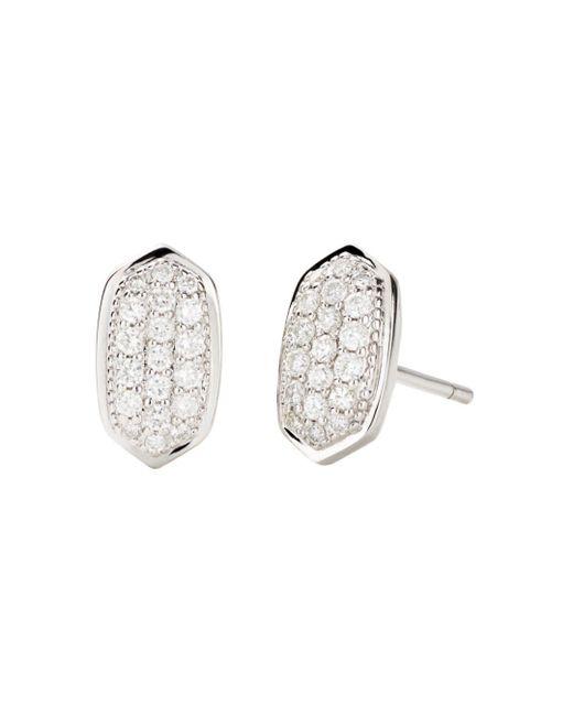 Kendra Scott Multicolor Amelee Diamond Stud Earrings In 14k Yellow Gold