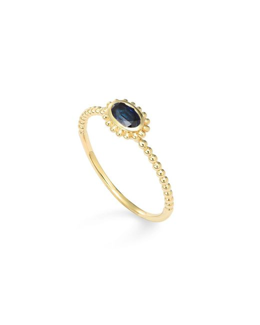 Lagos - Metallic 18k Gold Oval Sapphire Stackable Ring - Lyst