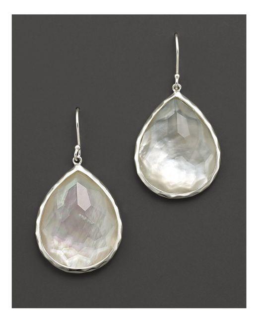 Ippolita | Metallic Sterling Silver Wonderland Teardrop In Mother-of-pearl Earrings | Lyst
