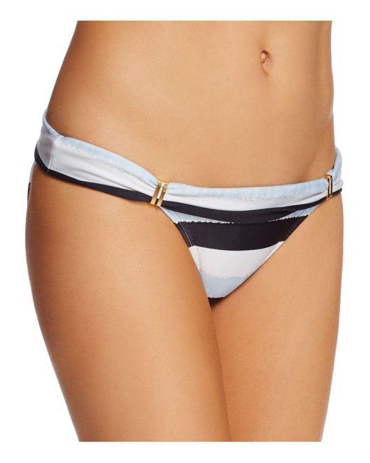 ViX - Blue Sea Glass Stripe Foldover Bikini Bottom - Lyst