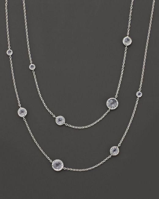 Ippolita | Metallic Sterling Silver Rock Candy® Lollipop Necklace In Clear Quartz | Lyst