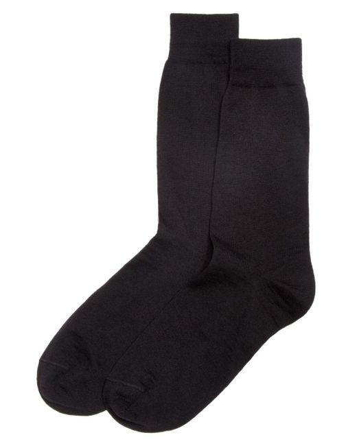 Bloomingdale's Black Wool Blend Dress Socks for men