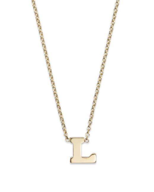 Zoe Chicco Metallic 14k Yellow Gold Initial Necklace