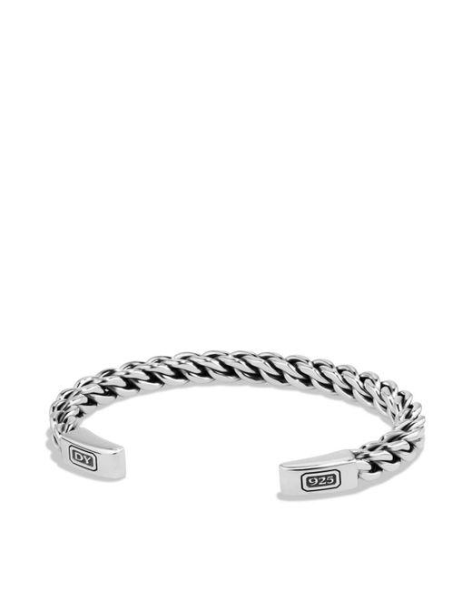 David Yurman | Metallic Chain Woven Cuff Bracelet | Lyst