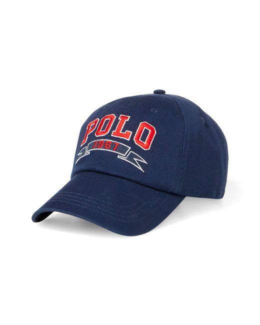 Polo Ralph Lauren | Blue Signature Baseball Cap for Men | Lyst