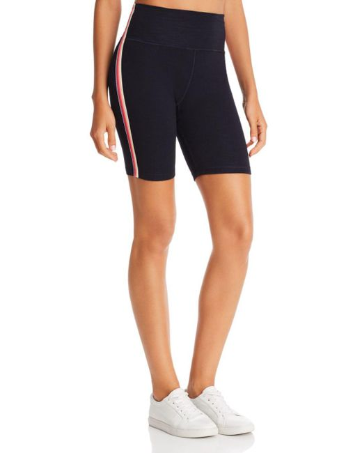 Sundry Blue Rainbow - Striped Bike Shorts