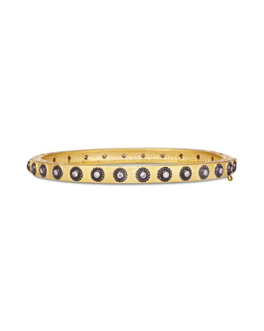 Freida Rothman - Black Studded Eternity Hope Bangle - Lyst