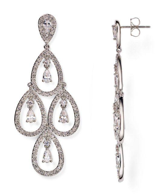 Nadri Metallic Kite Chandelier Earrings