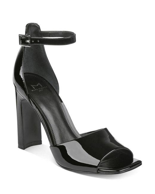 Marc Fisher - Black Harlin Patent Leather Ankle Strap Sandals - Lyst