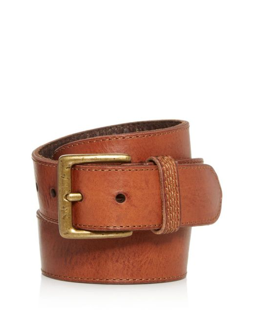 Frye Brown Men's Bowery Leather Belt for men