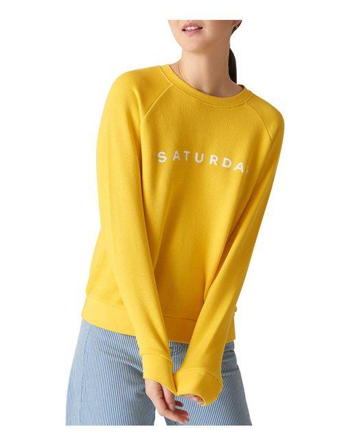Whistles - Yellow Saturday Sweatshirt - Lyst