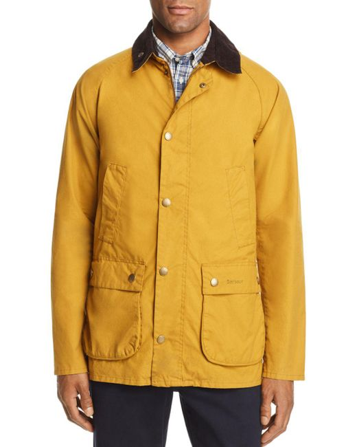 Barbour - Yellow Bedale Washed Jacket for Men - Lyst