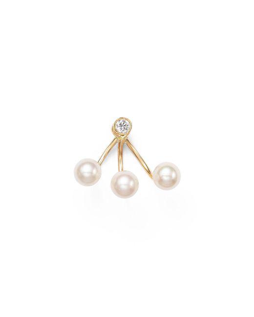Zoe Chicco - Metallic 14k Yellow Gold And Tiny Bezel Diamond Ear Shield - Lyst
