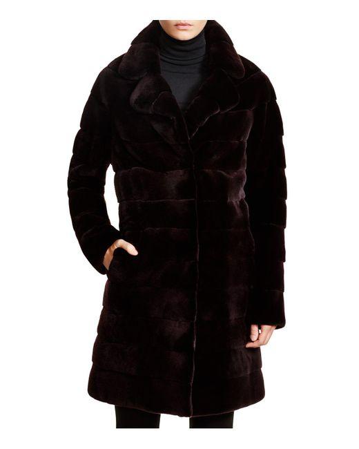 Maximilian - Purple Maximilian Mink Coat - Lyst