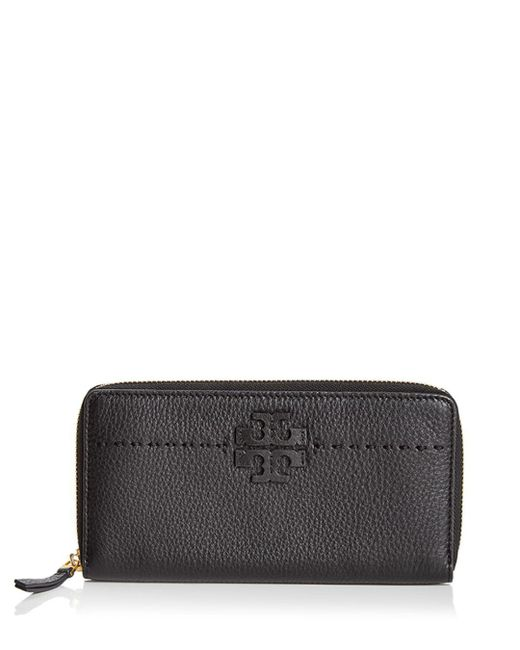 Tory Burch Multicolor Mcgraw Zip Leather Continental Wallet
