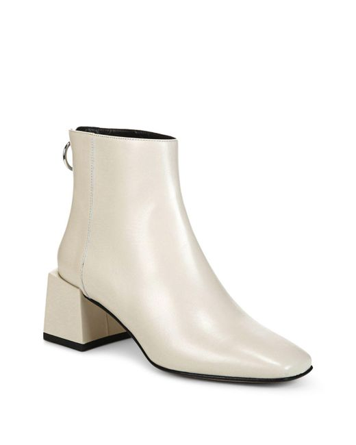 Via Spiga | Multicolor Women's Lara Leather Block Heel Booties | Lyst