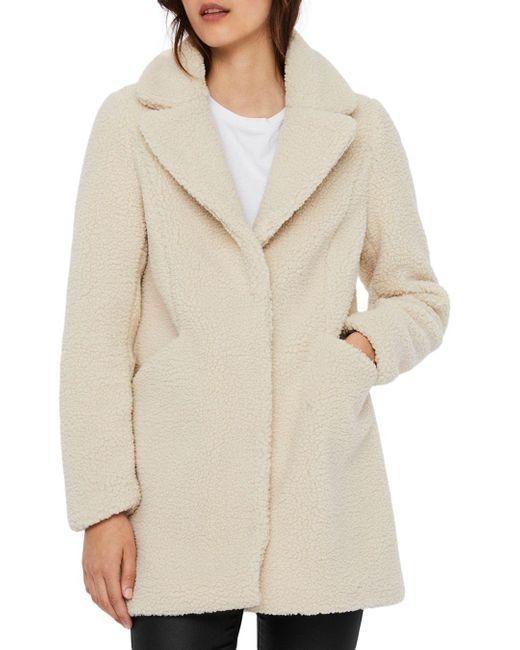 Vero Moda Multicolor Faux Fur Teddy Coat
