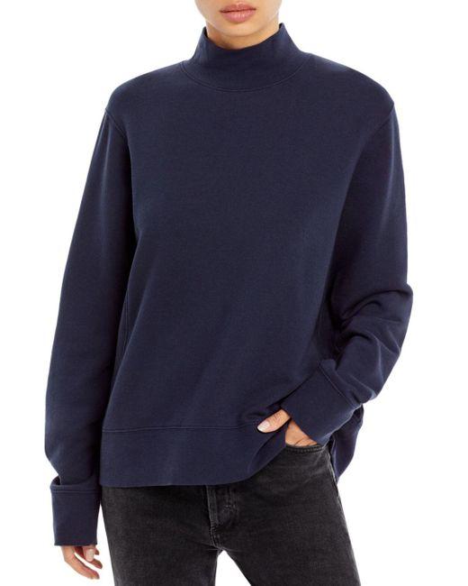 Vince Blue Mock Neck Pullover Sweater