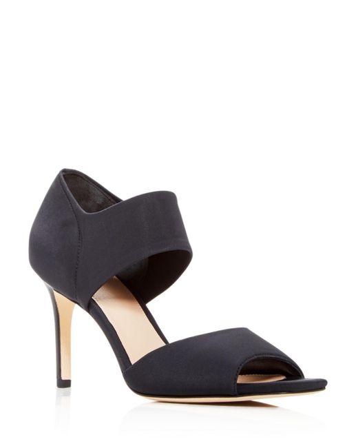 Via Spiga Black Women's Tamie High - Heel Sandals