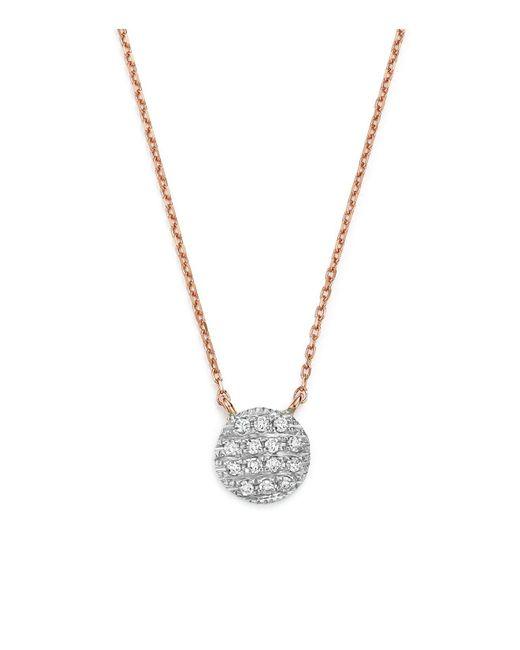 Dana Rebecca | Multicolor 14k White & Rose Gold Lauren Joy Mini Necklace With Diamonds | Lyst
