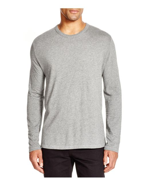 T By Alexander Wang - Gray Classic Long Sleeve Tee for Men - Lyst
