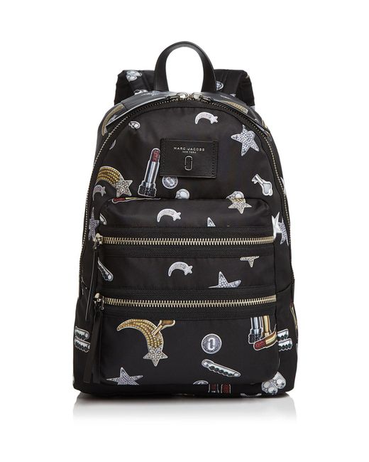 Marc Jacobs | Multicolor Biker Tossed Charms Print Nylon Backpack | Lyst