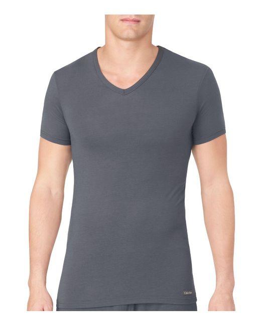 CALVIN KLEIN 205W39NYC - Gray Body Modal V-neck Neck Tee for Men - Lyst