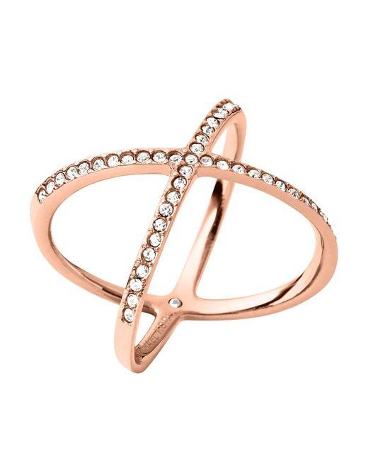 Michael Kors | Pink Pavé X Ring | Lyst
