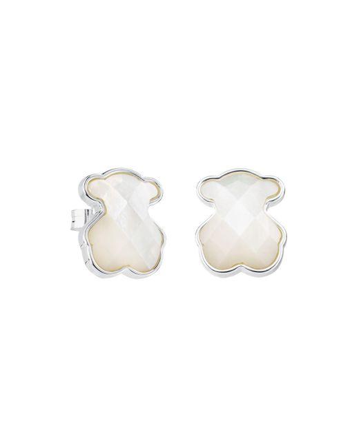 Tous - Multicolor Mother-of-pearl Bear Stud Earrings - Lyst