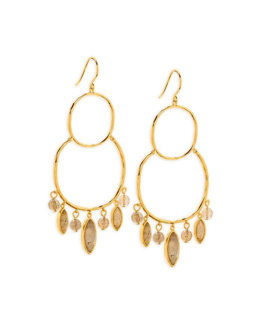 Gorjana | Metallic Eliza Gem Chandelier Earrings | Lyst