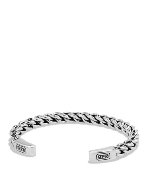 David Yurman - Metallic Chain Woven Cuff Bracelet - Lyst