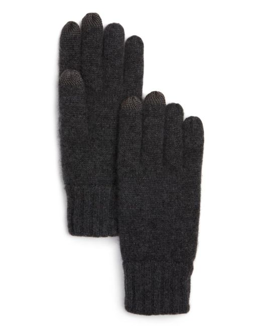 Bloomingdale's Gray The Store At Bloomingdale's Knitted Tech Gloves for men